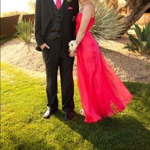 Prom dress. Red. Worn once. Size 4.